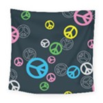 Peace & Love Pattern Square Tapestry (Large)