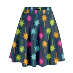Funny Palm Tree Pattern High Waist Skirt by tarastyle