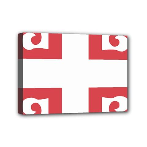 Serbian Cross  Mini Canvas 7  X 5  by abbeyz71
