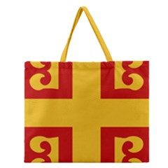 Byzantine Imperial Flag, 14th Century Zipper Large Tote Bag by abbeyz71