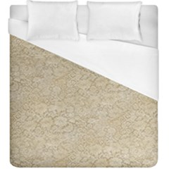 Old Floral Crochet Lace Pattern Beige Bleached Duvet Cover (king Size) by EDDArt
