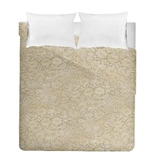 Old Floral Crochet Lace Pattern Beige Bleached Duvet Cover Double Side (full/ Double Size) by EDDArt