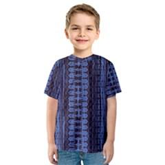 Wrinkly Batik Pattern   Blue Black Kids  Sport Mesh Tee by EDDArt