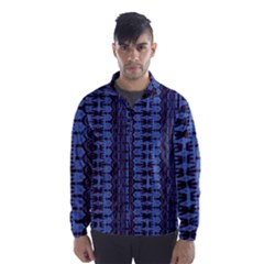 Wrinkly Batik Pattern   Blue Black Wind Breaker (men) by EDDArt