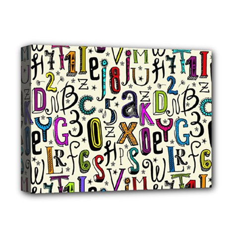 Colorful Retro Style Letters Numbers Stars Deluxe Canvas 16  X 12   by EDDArt