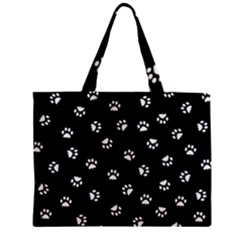 Footprints Cat White Black Mini Tote Bag by EDDArt