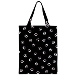 Footprints Cat White Black Classic Tote Bag by EDDArt