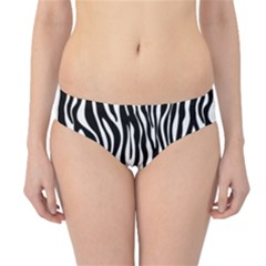 Zebra Stripes Pattern Traditional Colors Black White Hipster Bikini Bottoms by EDDArt