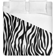 Zebra Stripes Pattern Traditional Colors Black White Duvet Cover (king Size) by EDDArt