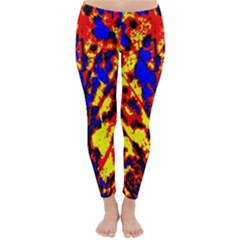 Fire Tree Pop Art Classic Winter Leggings by Costasonlineshop