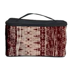 Wrinkly Batik Pattern Brown Beige Cosmetic Storage Case by EDDArt