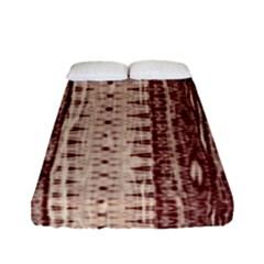 Wrinkly Batik Pattern Brown Beige Fitted Sheet (full/ Double Size) by EDDArt