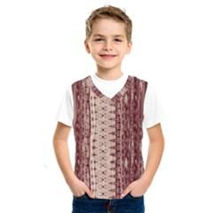 Wrinkly Batik Pattern Brown Beige Kids  Sportswear by EDDArt