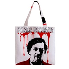 Pablo Escobar  Zipper Grocery Tote Bag by Valentinaart