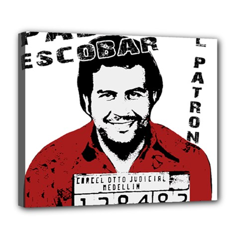 Pablo Escobar  Deluxe Canvas 24  X 20   by Valentinaart