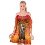 Deco Delight  - Cutout Spaghetti Strap Chiffon Dress