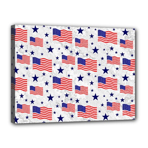 Flag Of The Usa Pattern Canvas 16  X 12  by EDDArt