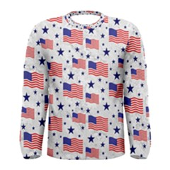 Flag Of The Usa Pattern Men s Long Sleeve Tee by EDDArt
