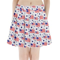 Flag Of The Usa Pattern Pleated Mini Skirt by EDDArt