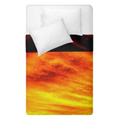 Black Yellow Red Sunset Duvet Cover Double Side (single Size) by Costasonlineshop