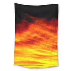 Black Yellow Red Sunset Large Tapestry by Costasonlineshop