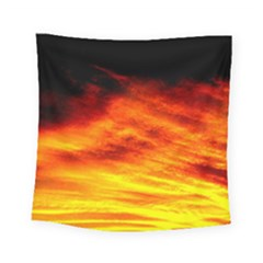 Black Yellow Red Sunset Square Tapestry (small) by Costasonlineshop