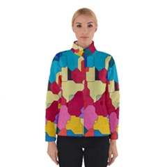 Colorful Leather Pieces             Winter Jacket by LalyLauraFLM