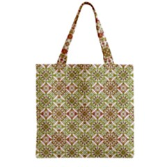Colorful Stylized Floral Boho Grocery Tote Bag by dflcprints