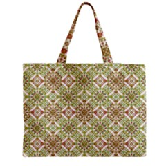 Colorful Stylized Floral Boho Medium Tote Bag by dflcprints