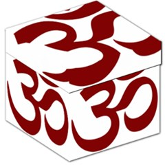 Hindu Om Symbol (dark Red) Storage Stool 12   by abbeyz71