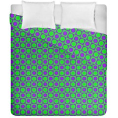 Friendly Retro Pattern A Duvet Cover Double Side (california King Size) by MoreColorsinLife