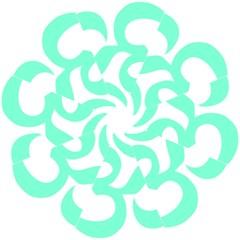 Hindu Om Symbol (cyan Blue) Straight Umbrellas by abbeyz71