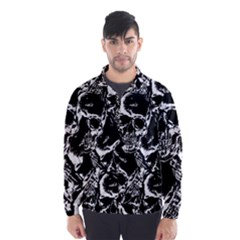Skulls Pattern Wind Breaker (men) by ValentinaDesign