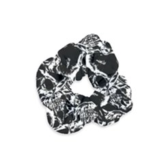Skulls Pattern Velvet Scrunchie by ValentinaDesign