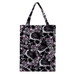 Skulls Pattern Classic Tote Bag by ValentinaDesign
