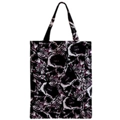 Skulls Pattern Zipper Classic Tote Bag by ValentinaDesign