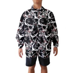 Skull Pattern Wind Breaker (kids) by ValentinaDesign