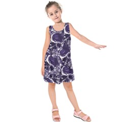 Skull Pattern Kids  Sleeveless Dress by ValentinaDesign