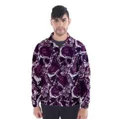 Skull Pattern Wind Breaker (men) by ValentinaDesign