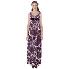 Skull Pattern Empire Waist Maxi Dress by ValentinaDesign