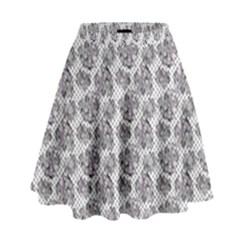 Floral Pattern High Waist Skirt by ValentinaDesign