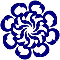 Om Symbol (navy Blue) Hook Handle Umbrellas (small) by abbeyz71
