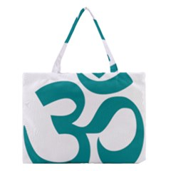 Hindu Om Symbol (dark Cyan) Medium Tote Bag by abbeyz71
