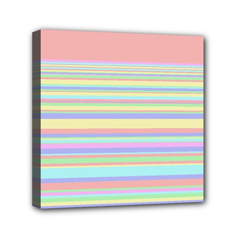 All Ratios Color Rainbow Pink Yellow Blue Green Mini Canvas 6  X 6  by Mariart