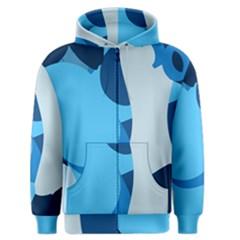 Blue Polka Men s Zipper Hoodie by Mariart