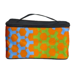 Green Blue Orange Cosmetic Storage Case by Mariart
