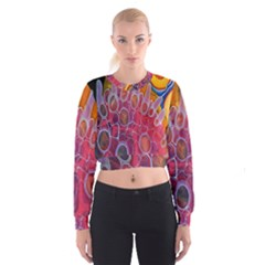 Micro Macro Belle Fisher Nature Stone Cropped Sweatshirt by Mariart