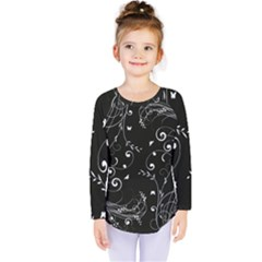 Floral Design Kids  Long Sleeve Tee by ValentinaDesign