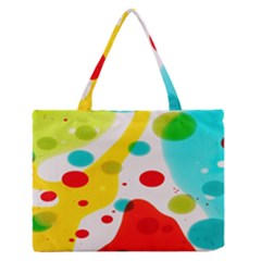 Polkadot Color Rainbow Red Blue Yellow Green Medium Zipper Tote Bag by Mariart