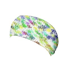 Paint On A White Background           Yoga Headband by LalyLauraFLM